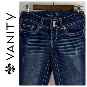 Vanity Curvy Dark Wash Emma Bootcut Jeans 26 x 37